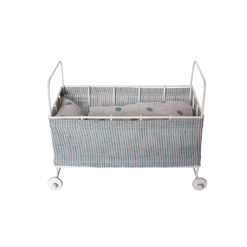 Pip and Sox - Maileg Metal Baby Cot - Danish Design - Kids Interior