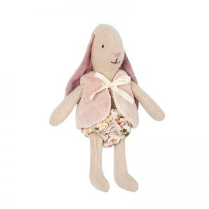 Maileg Micro Bunny with vest in pink - Pip and Sox