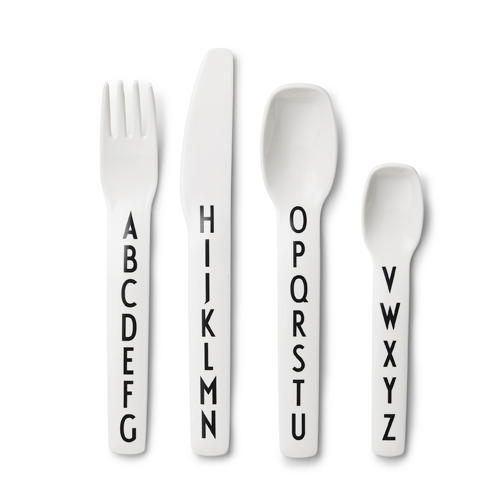 Design Letters Alphabet Melamine Cutlery - Design by Arne Jacobsen - Pip and Sox