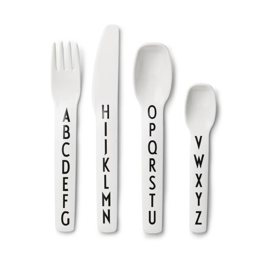 Design Letters by Arne Jacobsen Alphabet Melamine Cutlery