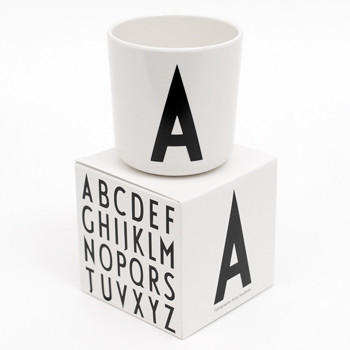 Design Letters by Arne Jacobsen Alphabet Melamine Cup Pip and Sox