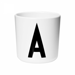 Design Letters by Arne Jacobsen Alphabet Melamine Cup – Pip and Sox
