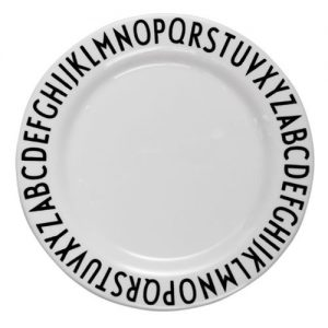 Design Letters Alphabet Melamine Plate – Design by Arne Jacobsen – Pip and Sox
