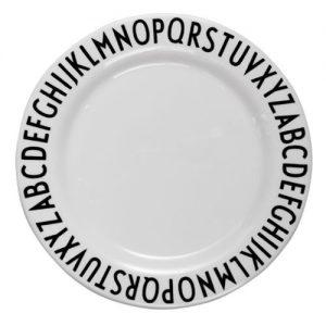 Design Letters Alphabet Melamine Plate – Design by Arne Jacobsen – Pip and Sox