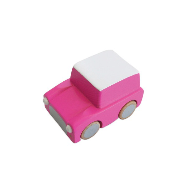 KIKO+ KURUMA WOODEN TOY CAR PINK Pip and Sox