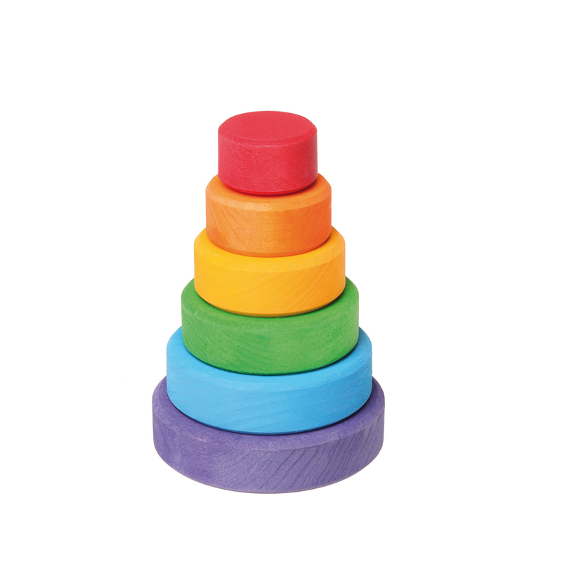 Grimm's Stacking Wooden Rainbow Tower - Small Pip and Sox