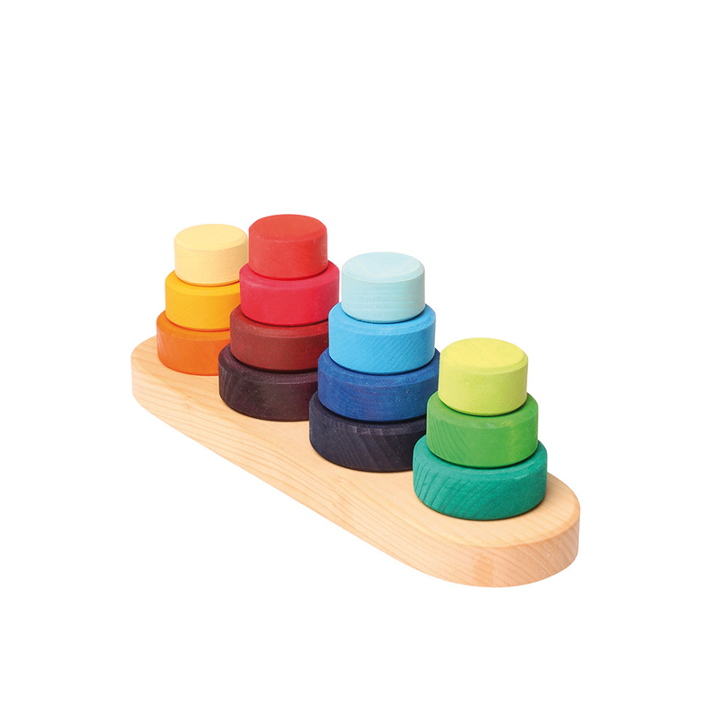 Grimm's Stacking Wooden Tower Fabuto Pip and Sox