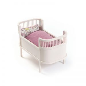 Smallstuff Rosaline Doll's Cot - Rose Colour - Pip and Sox