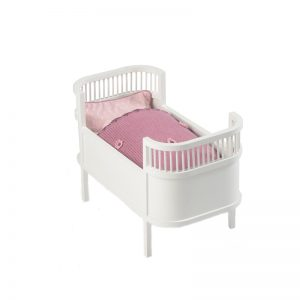 Smallstuff Rosaline Doll Cot - White - Pip and Sox
