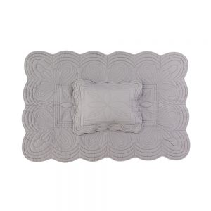 Bonne Mere Cot Quilt and Pillow Set - Grey - Pip and Sox