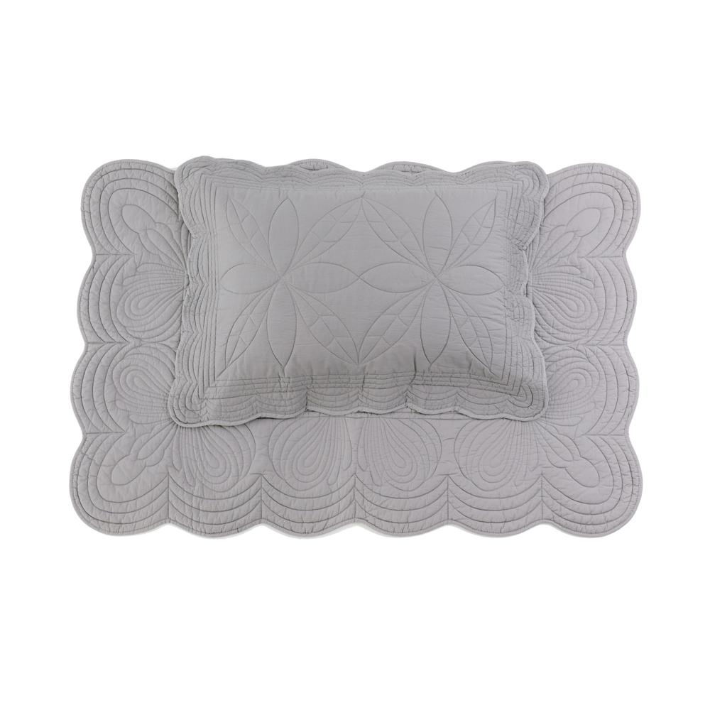 Bonne Mere Australia - Single Quilt and Pillow Set - Elephant Grey - Pip and Sox