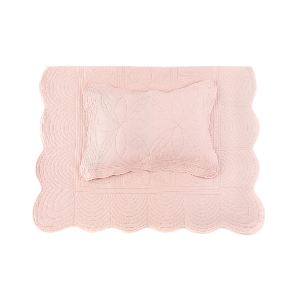 Bonne Mere Quilt Set - Shell Pink - Pip and Sox