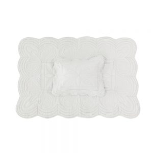 Bonne Mere Cot Quilt and Pillow - Mist - Pip and Sox