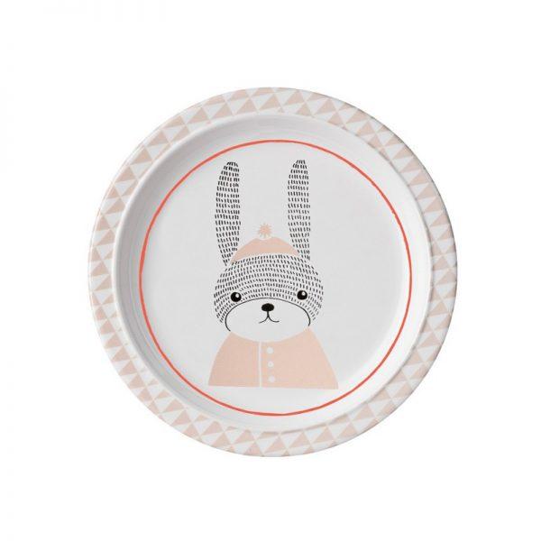Bloomingville Mini Sophia Rabbit Melamine Plate - Pip and Sox
