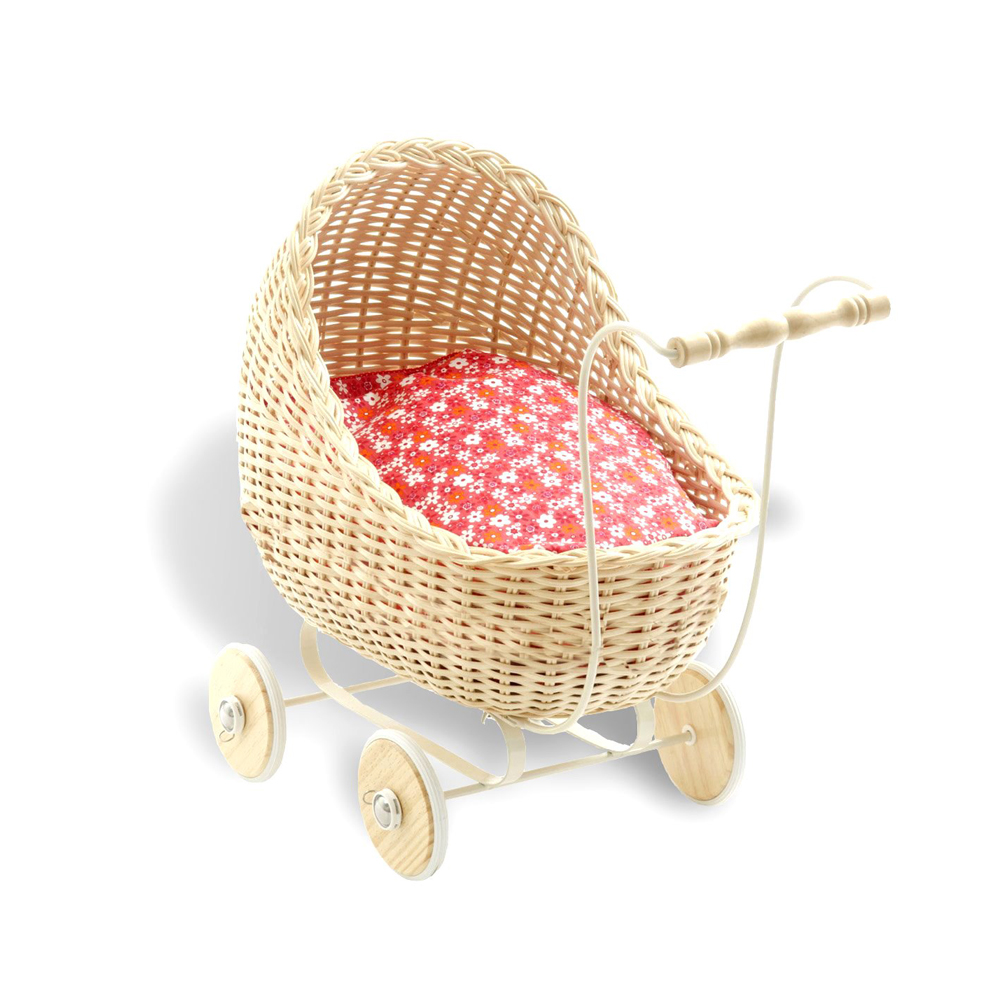 Smallstuff Doll Pram - Natural - Smallstuff Australia - Pip and Sox