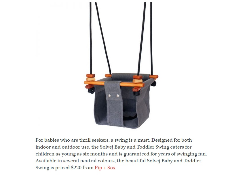 Pip and Sox Solvej Baby and Toddler Swing