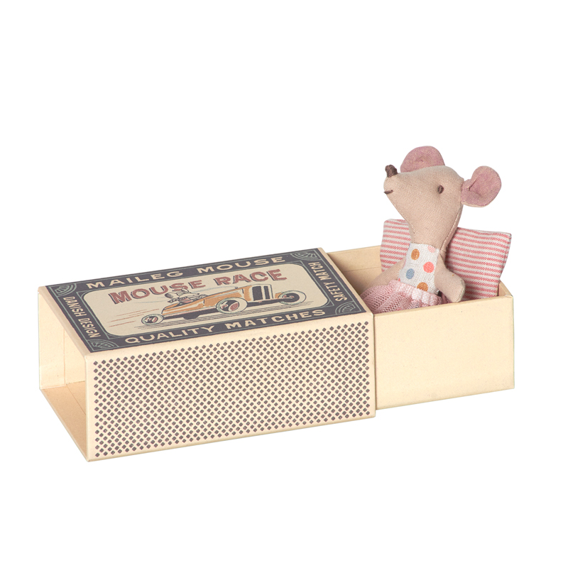 Maileg Little Sister Mouse In A Box - Pip and Sox