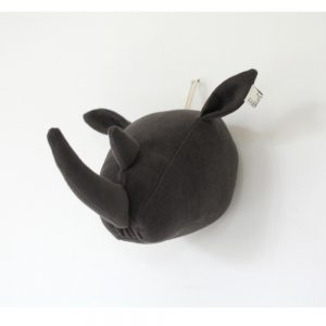 Fabels Rhino Head - Dark Grey - Small - Pip and Sox