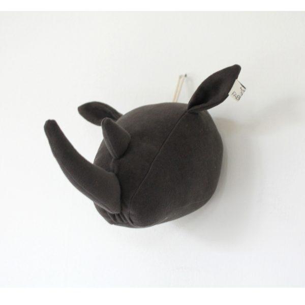 Fabels Rhino Head - Dark Grey - Small - Pip and Sox