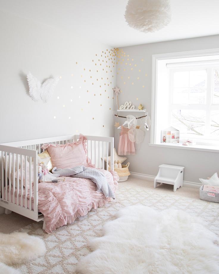 Pip and Sox - The Design Report - Special Guest Winter Daisy - Modern Scandinavian Girls Nursery Interior