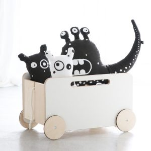 Ooh Noo Toy Chest with Wheels - Pip and Sox - Kids Interior
