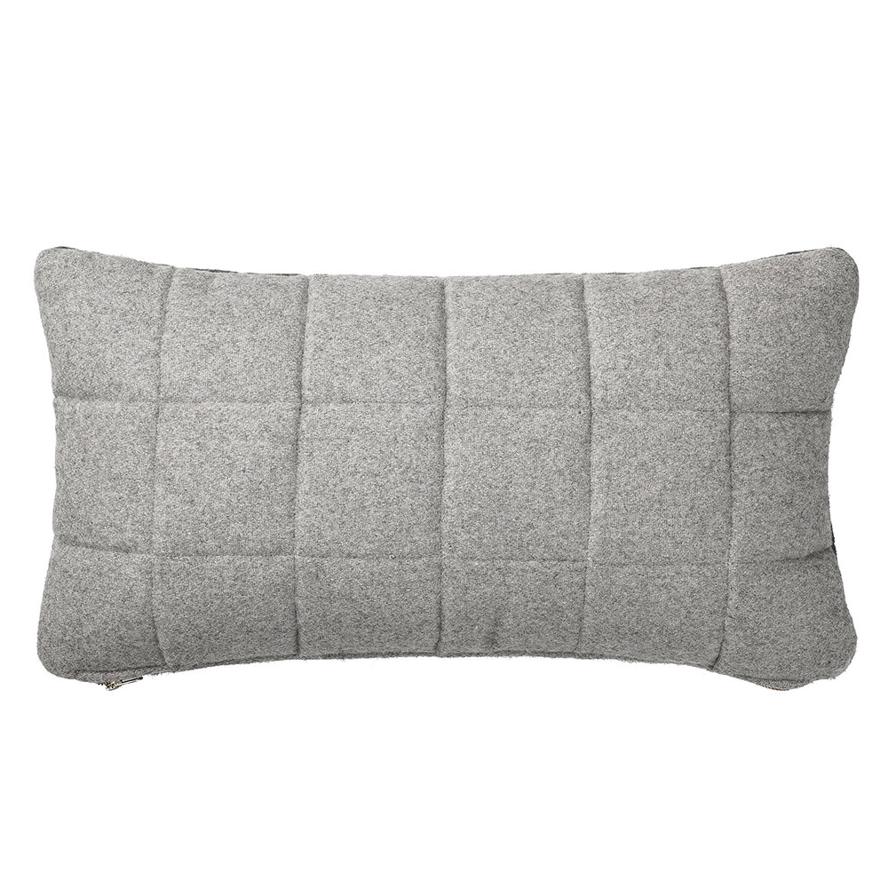 Pip and Sox - Bloomingville Quilted Wool Cushion - Grey - Kids Decor