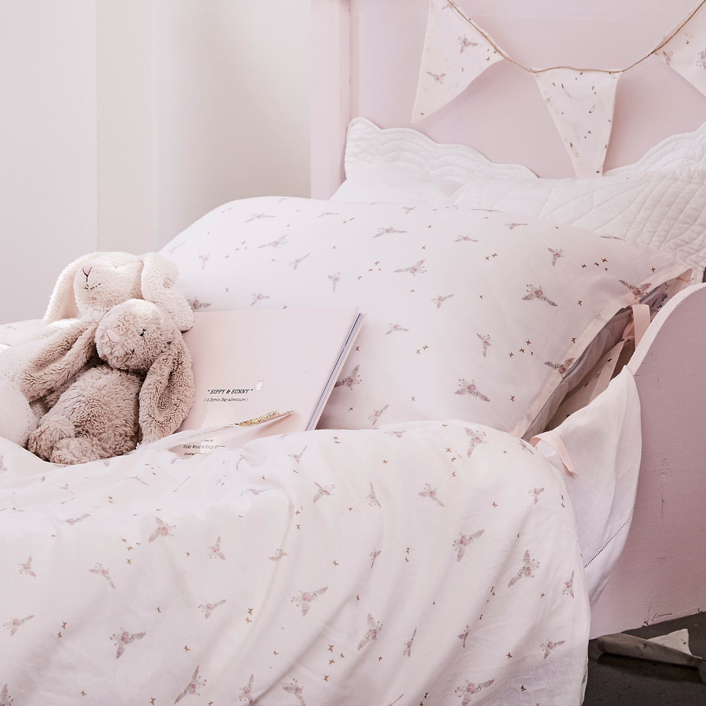 Pip and Sox - Bonne Mere Sippy Print Single Doona and Pillow Set