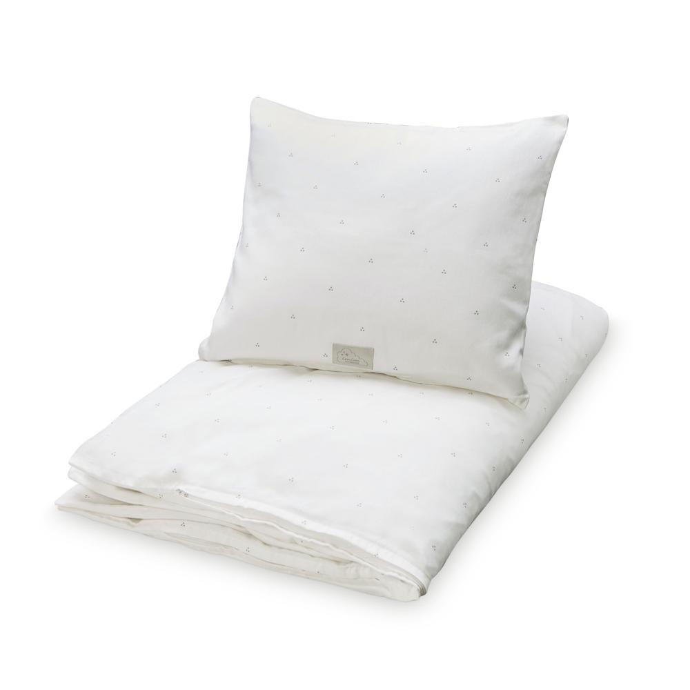 Cam Cam Copenhagen Cot Bed Linen - Cream and Grey Dots - Pip and Sox