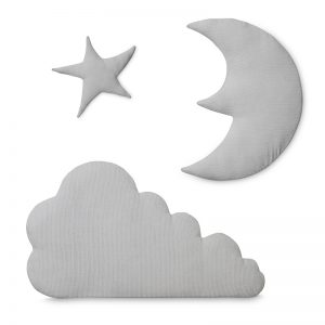 Cam Cam Copenhagen Moon star cloud wall hanging - Light grey