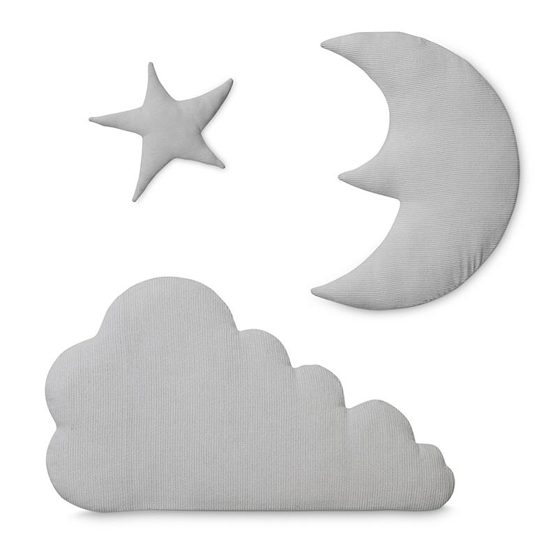 Cam Cam Copenhagen Moon star cloud wall hanging - Light grey