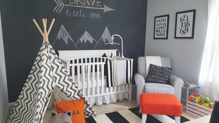 Tips for painting nursery - blackboard paint