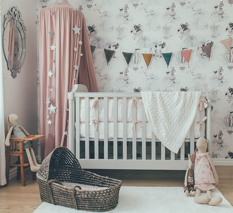 Tips for painting nursery - wallpaper ideas