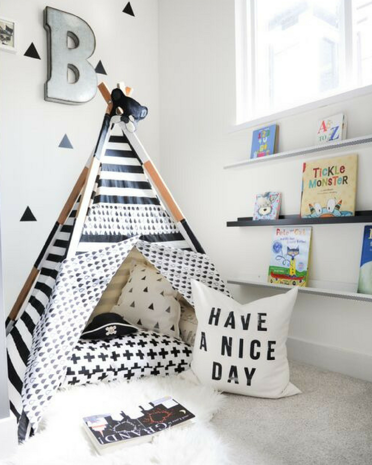 Reading nook for kids - featured image - Pip and Sox