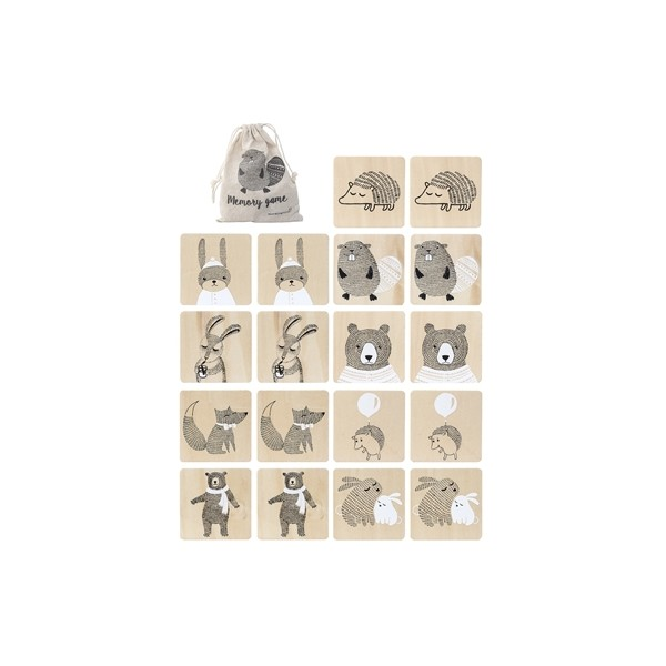 Bloomingville Mini Wooden Memory Game - Pip and Sox