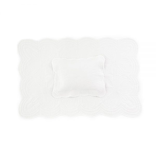 Bonne Mère Cot Quilt and Pillow Set - White - Pip and Sox