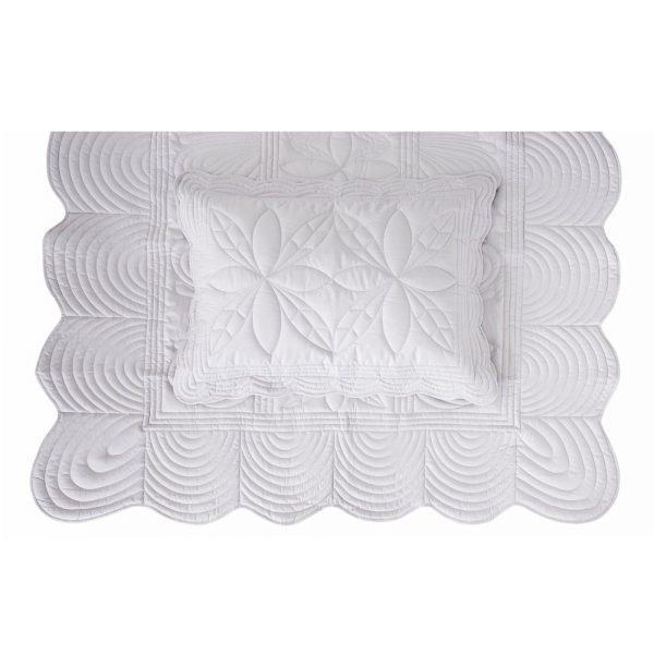 Bonne Mère Single Quilt and Pillow Set - Dove - Pip and Sox