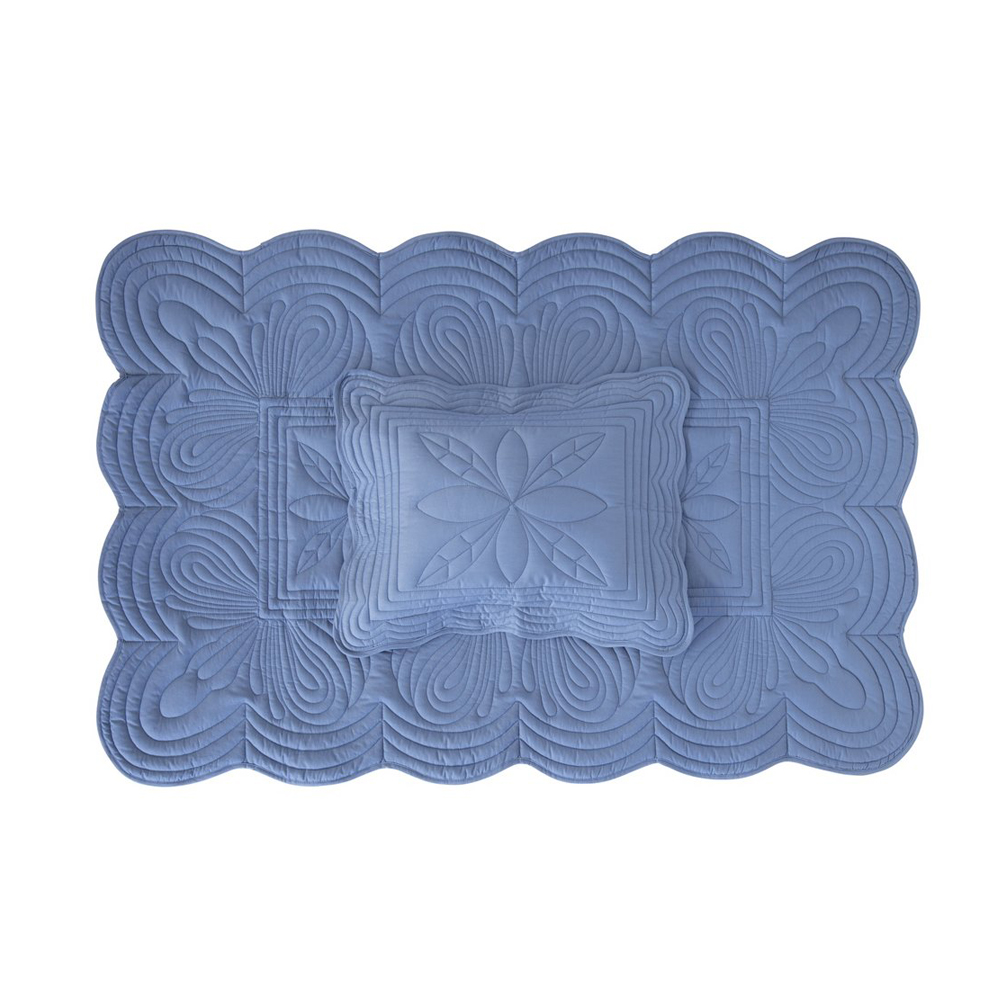 Bonne Mere Cot Quilt and Pillow Set - Denim - Pip and Sox