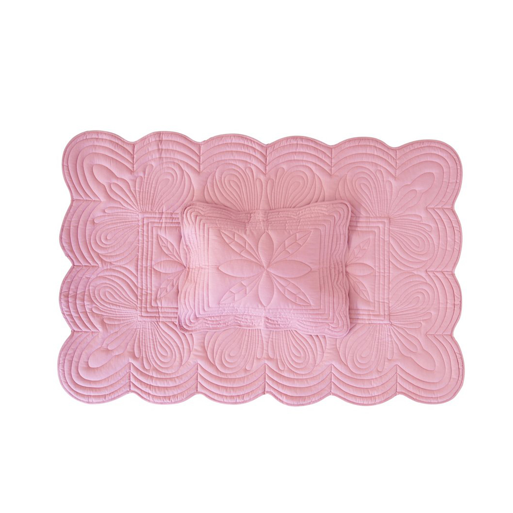 Bonne Mère Cot Quilt and Pillow Set - Rose - Pip and Sox