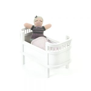 Smallstuff Rosaline Miniature Doll Bed - White Colour - Pip and Sox
