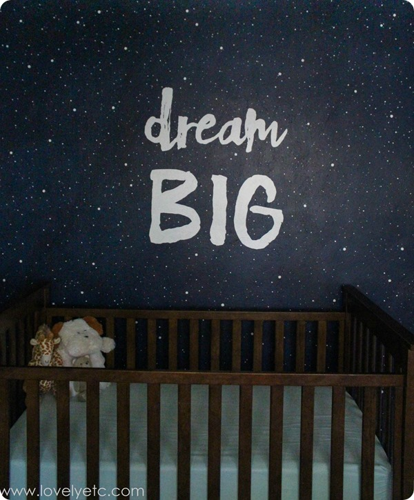 Starry Night Kids Bedroom With Dream Big Mural   Pip And Sox