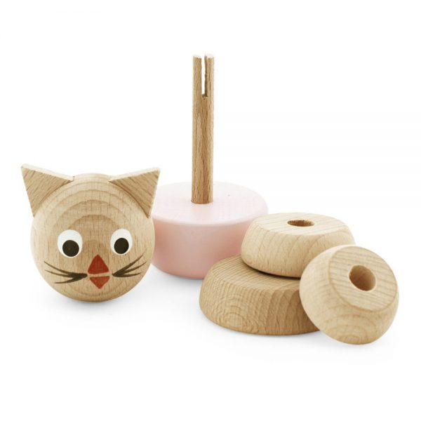 Pip and Sox - Wooden Cat