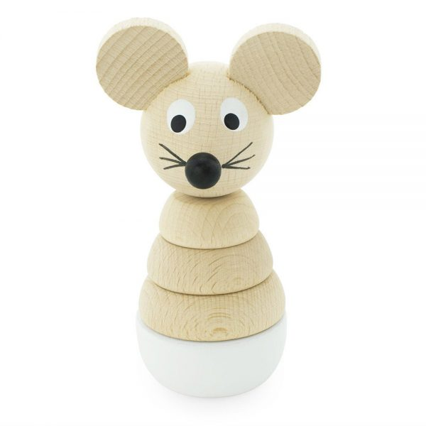 Pip and Sox - Wooden Mouse