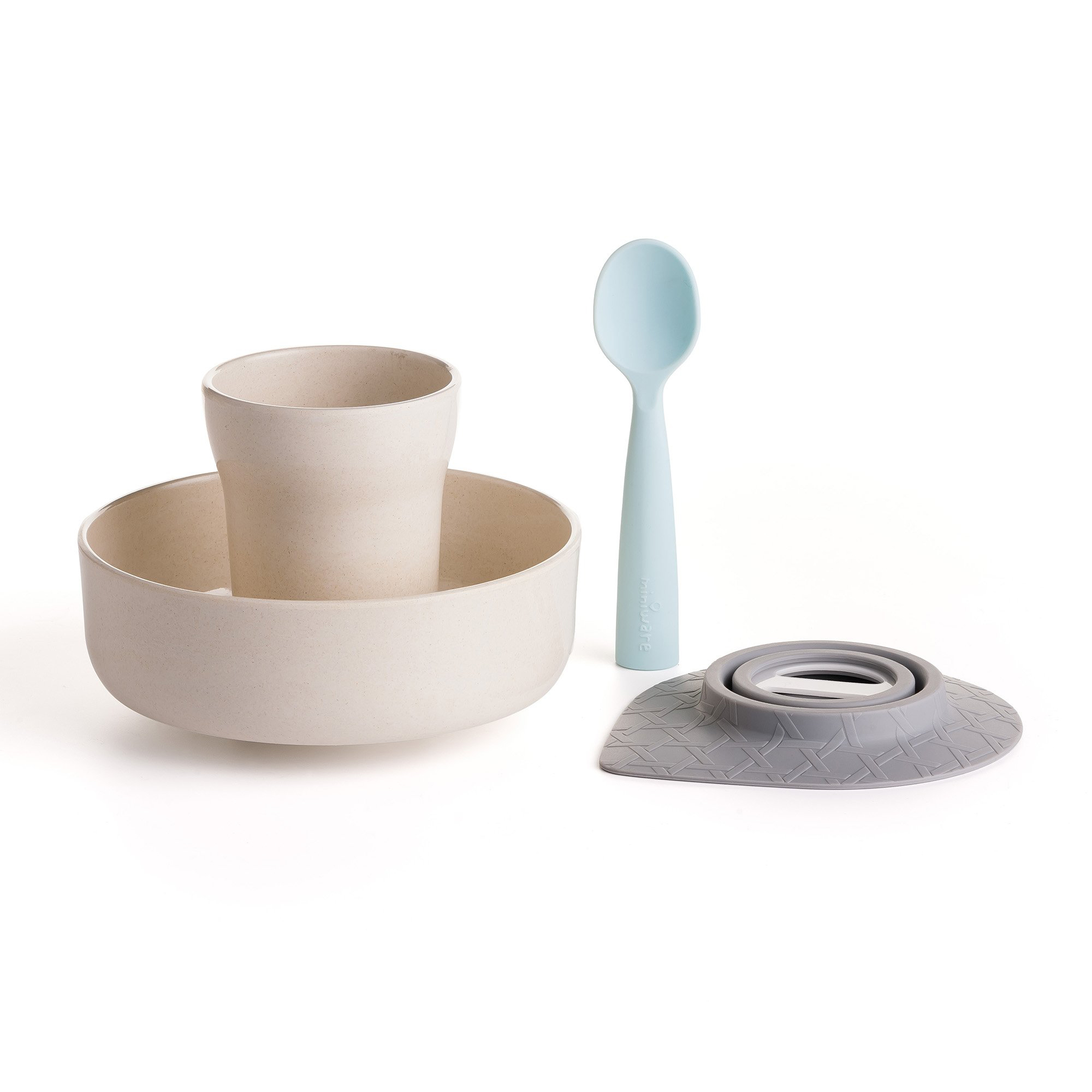 Baby Self-Conscious Baby Learning Dishes Spoon Fork Bowl Set Suction Cup Tableware Eating Feeding Feeding