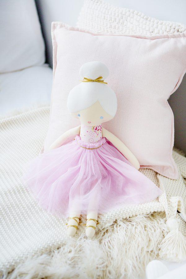 Alimrose Amelie Doll - Pale Pink Floral