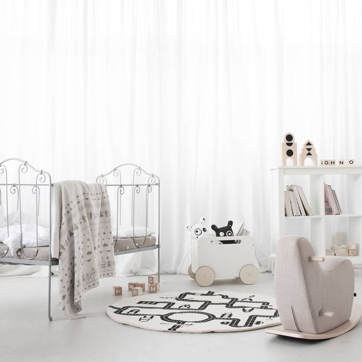 Monochrome girls bedroom with black and  white accessories - Pip and Sox
