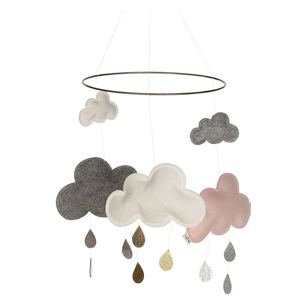 70427b845f801 KONGES SLØJD SKY MOBILE CLOUD SATURN PINK / GREY MELANGE / WHITE