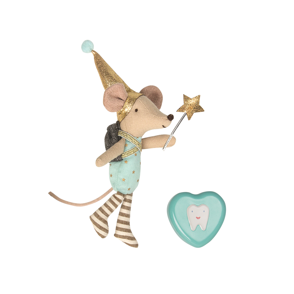 Maileg Tooth Fairy Mouse In Box Girl Pip And Sox